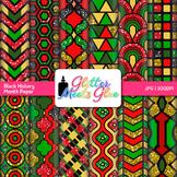 Black History Month Scrapbook Paper: Kwanzaa Graphics {Glitter Meets Glue}