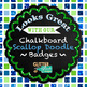 Blue-Green Geometry Paper | Scrapbook Backgrounds for Teacher Planners