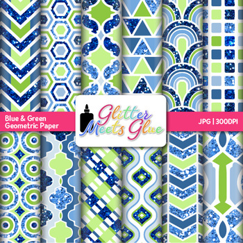 Oceana Geometry Paper {Scrapbook Backgrounds for Task Card