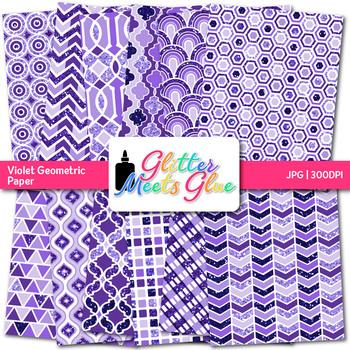 Violet Geometry Paper {Scrapbook Backgrounds for Task Cards & Brag Tags}