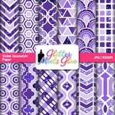 Violet Geometry Paper | Scrapbook Backgrounds for Task Cards & Classroom Decor