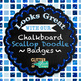 Blue Geometry Paper {Scrapbook Backgrounds for Task Cards & Brag Tags}