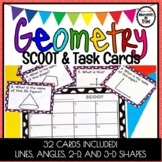 Geometry SCOOT & Task Cards - 2D Shapes - 3D Shapes - Angles