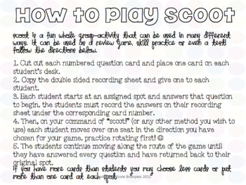 Geometry SCOOT! Game, Task Cards or Assessment