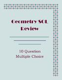Geometry SOL Multiple Choice Practice