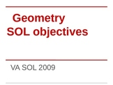 Geometry SOL Objectives