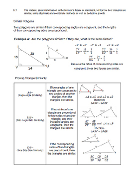 Geometry SOL Review (VA 2009 Standards)