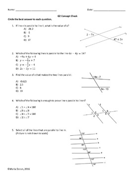Geometry SOL Review Study Guides and Multiple Choice by Standard