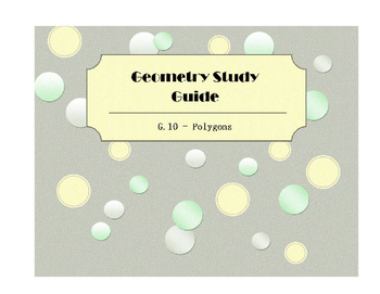 Geometry SOL Study Guide Standard G.10