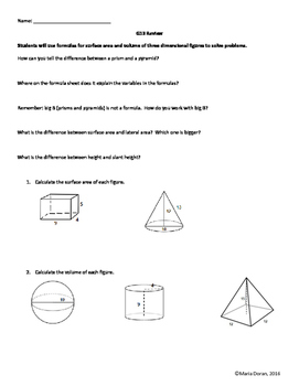 Geometry SOL Study Guide Standard G.13