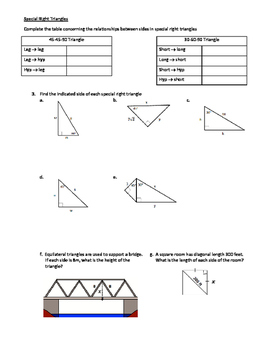 Geometry SOL Study Guide Standard G.8
