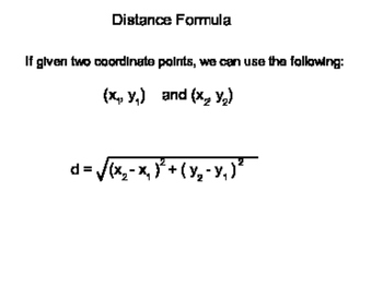 Geometry SS 1.3 - Distance and Midpoints