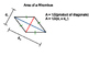 Geometry SS 11.2 - Area of Trapezoids, Rhombi, and Kites