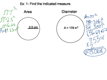 Geometry SS 11.3 - Areas of Circles and Sectors