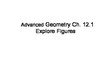 Geometry SS 12.1 - Representations of Three-Dimensional Figures