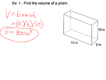Geometry SS 12.4 - Volumes of Prisms and Cylinders