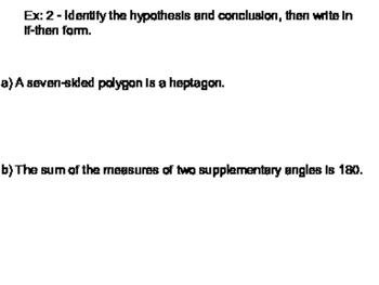 Geometry SS 2.3 - Conditional Statements