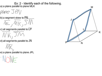 Geometry SS 3.1 - Parallel Lines and Transversals
