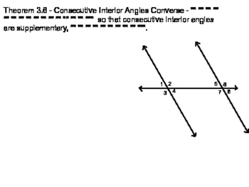 Geometry SS 3.5 - Proving Lines Parallel