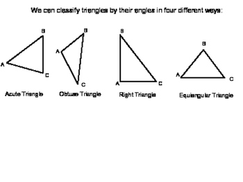 Geometry SS 4.1 - Classifying Triangles`
