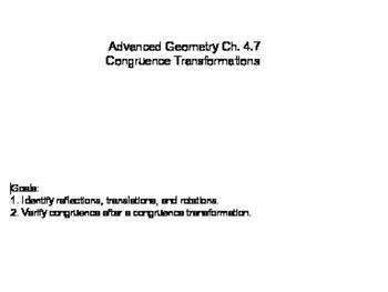 Geometry SS 4.7 - Congruence Transformations