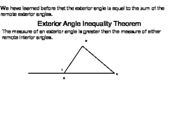 Geometry SS 5.3 - Inequalities in One Triangle