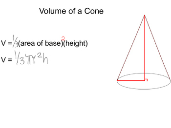 Geometry SS12.5 - Volumes of Pyramids and Cones