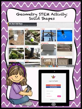 Geometry STEM Activity: Solid Shape Scavenger Hunt Using iPads