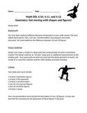 Skate Park Design Challenge- Geometry STEM project