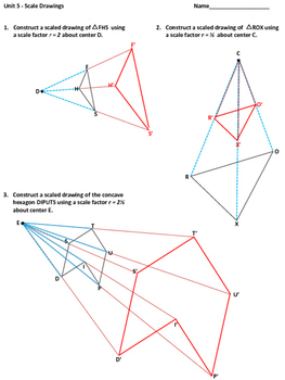 Geometry Scale Drawings Dilation Similarity