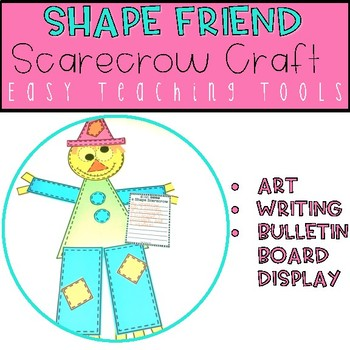 Geometry Scarecrow Shape Craft for Halloween