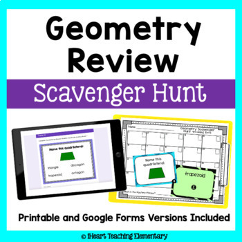 Geometry Review- A Scavenger Hunt