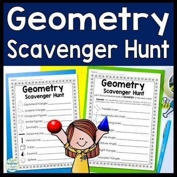 Geometry Scavenger Hunt: A Fun Geometry Activity!