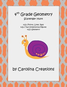 Geometry Scavenger Hunt - Fourth Grade Common core Math