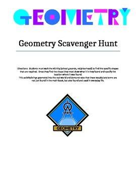 Geometry Scavenger Hunt for Math