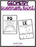 Geometry Scavenger Hunt {lines, symmetry, protractor, angles}