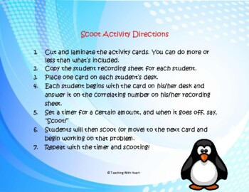Geometry Scoot Activity/Task Cards (Lines & Angles)