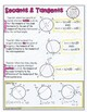 Geometry: Secant & Tangent Theorem Doodle Graphic Organizer