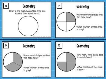 Geometry - Second Grade Math Task Cards