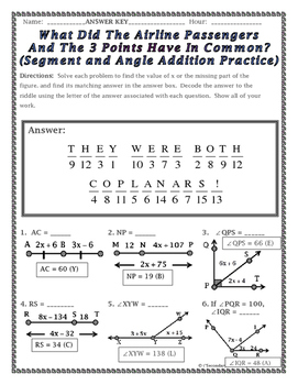 Kindergarten Angle Addition Worksheet Free Worksheets Library ...