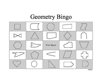 Geometry Shape Bingo