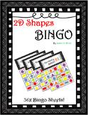 Geometry Shape 2D Bingo! 36x Sheets!!