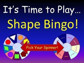 Geometry Shape Bingo (for Pre-K, K, and 1)