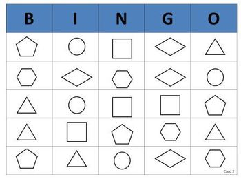 Geometry Shape Bingo (for Pre-K, K, and 1)