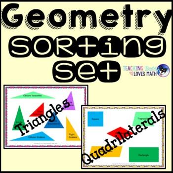 Geometry Shape Classification Attribute Sorting Math Center Common Core