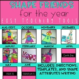 Geometry Shape Craft  GROWING Bundle for the Whole Year