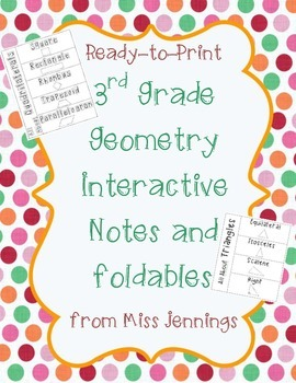 Geometry: Shape Features Foldables