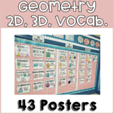 Geometry Poster Set- Shapes & Vocabulary