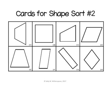 Geometry Shape Sort, Includes 10 Games!  4th - 5th Grade