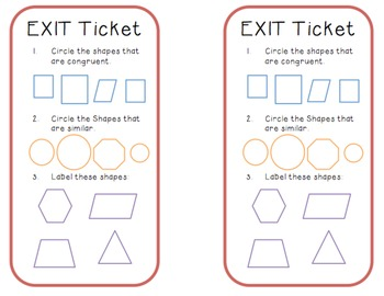 Geometry Shape Sort Lesson Plan (Grade 3)